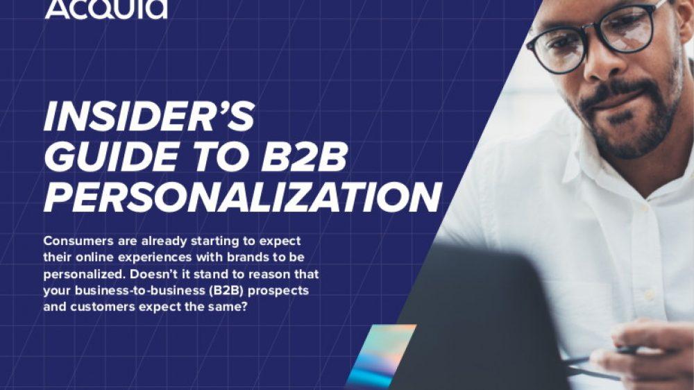 acquia insider's guide to b2b personalization